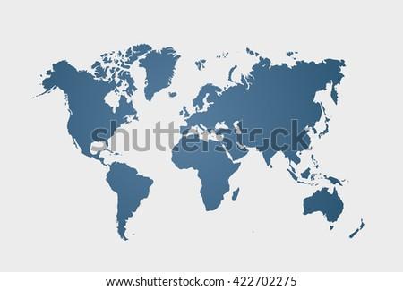 Blue similar world map. World map blank. World map vector. World map flat. World map template. World map object. World map eps. World map infographic. World map clean. World map art - stock vector - stock vector