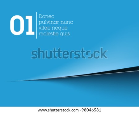 blue simple background / paper / vector / web - stock vector