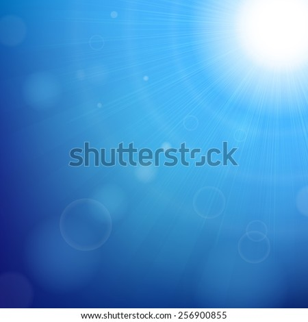 Blue Sky Background With Gradient Mesh, Vector Illustration - stock vector