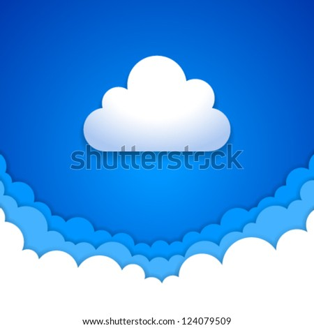 Blue sky clouds - stock vector