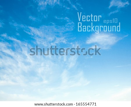 Blue sky. Vector background.