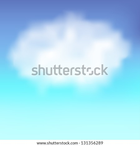 Blue sky with cloud. Vector background. - stock vector