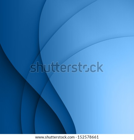 Blue  smooth twist light lines vector background. - stock vector