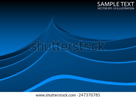 Blue space abstract shiny design abstract vector template - Vector futuristic blue space background  illustration - stock vector