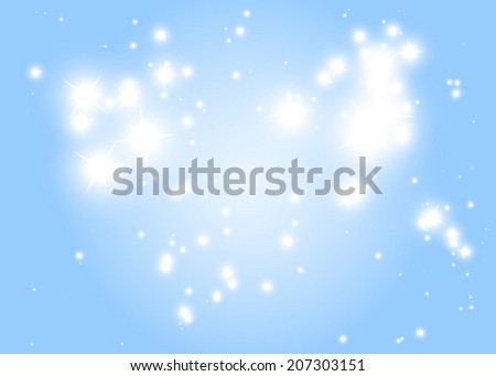 Blue  sparkle decorative vector background template - Blue sparkling vector background illustration - stock vector