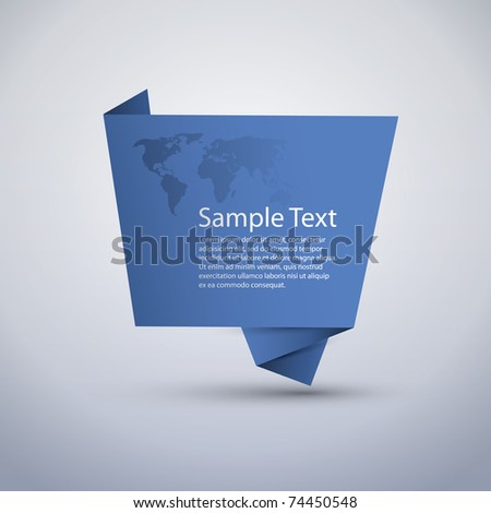 Blue Speech Bubble - stock vector