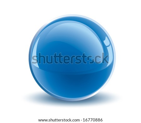 Blue Sphere - stock vector