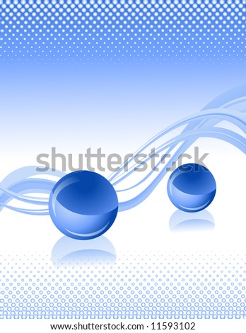 Blue sphere background, vector illustration, EPS file included - stock vector