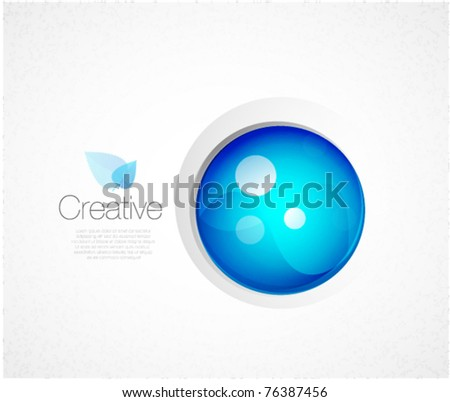 Blue sphere conceptual global background - stock vector
