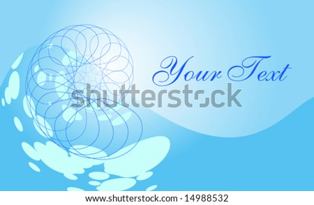 Blue Spiral Concept -  Vector Background - stock vector
