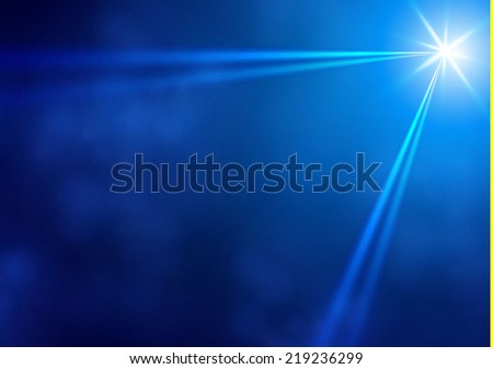 Blue spotlight abstract background. Vector illustration - stock vector