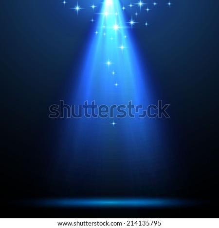 Blue spotlight. Vector background  - stock vector