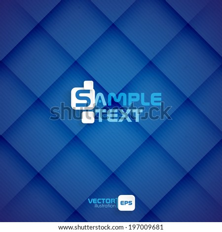 Blue Square Abstract Background. Vector Illustration. Eps 10. - stock vector