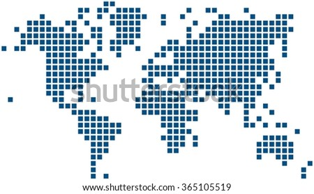 Pixel globe stock images royalty free images vectors shutterstock blue square world map on white background vector illustration gumiabroncs Images