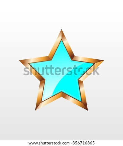 blue star icon on white background - stock vector