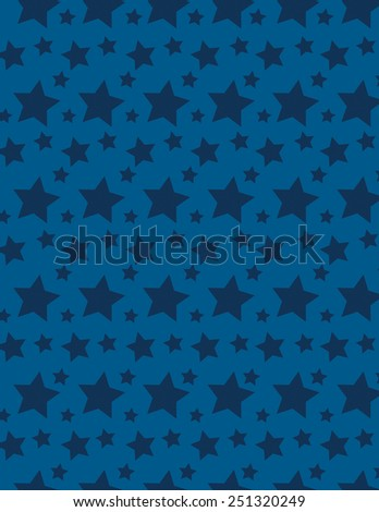 Blue star pattern over blue background - stock vector