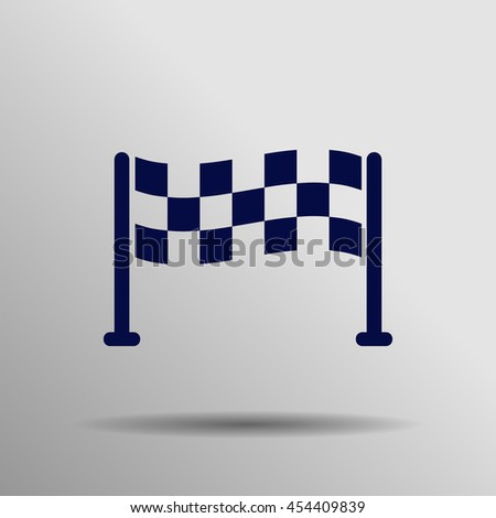 Blue Start Icon on a gray background - stock vector