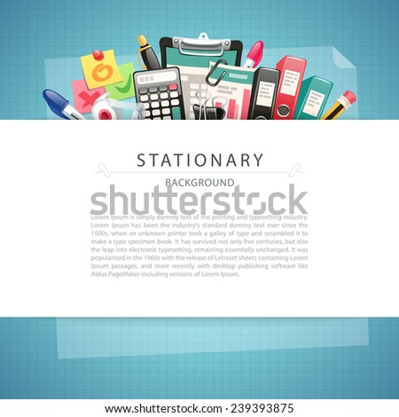Blue Stationary Background with Copy Space. In the EPS file, each element is grouped separately. - stock vector
