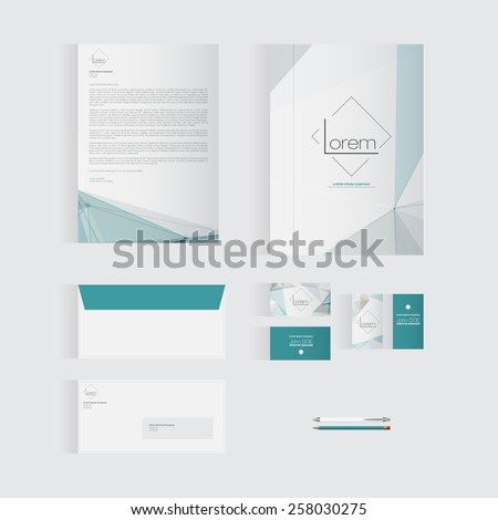 Blue Stationery Template Design for Your Business | Modern Vector Design - stock vector