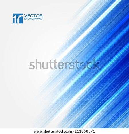 Blue Straight lines abstract vector background | EPS10 Design - stock vector