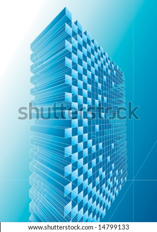 Blue structure abstract design, vector illustration with layers.