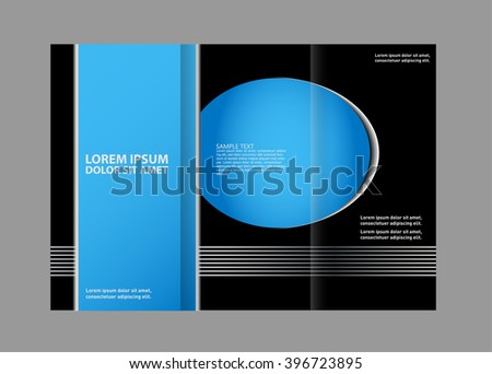 Blue Style Tri-Fold Brochure Design. Corporate Leaflet, Cover Template