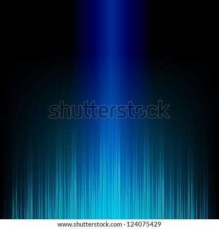 Blue stylish equalizer - stock vector