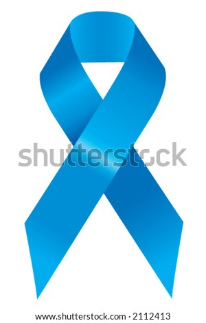 Blue Support Ribbon - stock vector