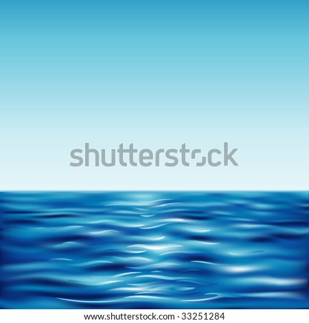blue surface - stock vector