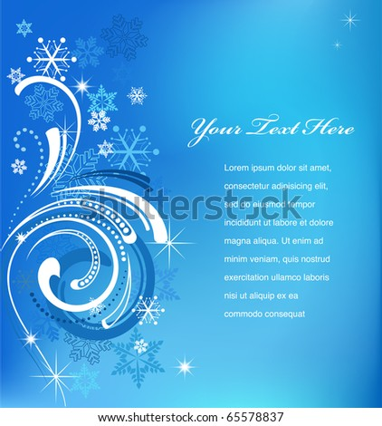 blue swirly christmas background template stock vector 65578837