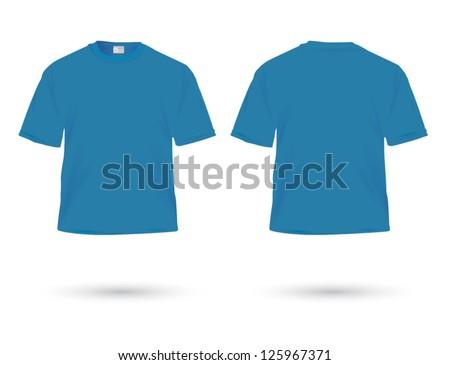 blue t-shirt illustration on white. - stock vector