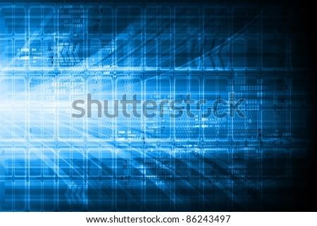 Blue technical design. Eps 10 - stock vector