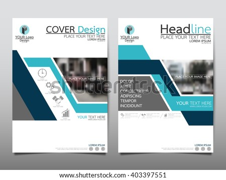Blue technology annual report brochure flyer design template vector, Leaflet cover presentation abstract flat background, layout in A4 size - stock vector