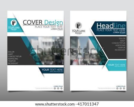 Blue Technology Annual Report Brochure Flyer Stock Vector 417011347 ...