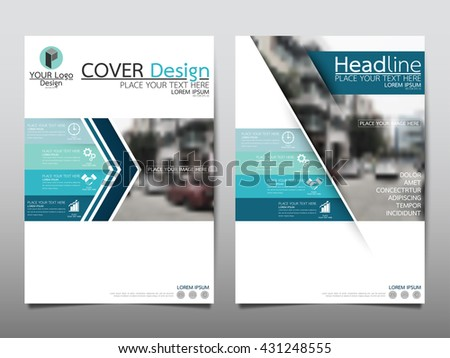 Blue technology annual report brochure flyer design template vector, Leaflet cover presentation abstract geometric background, layout in A4 size - stock vector