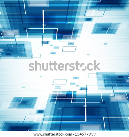 Blue technology background. - stock vector