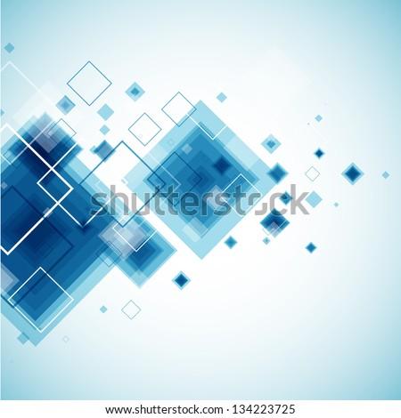 Blue technology background. Vector - stock vector