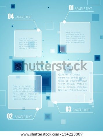 Blue technology background. Vector - stock vector