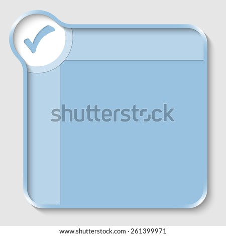 blue text box for entering text and check box - stock vector