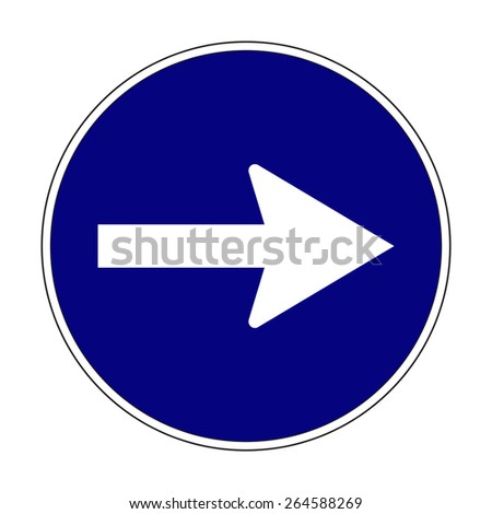 Blue traffic signal vector - stock vector