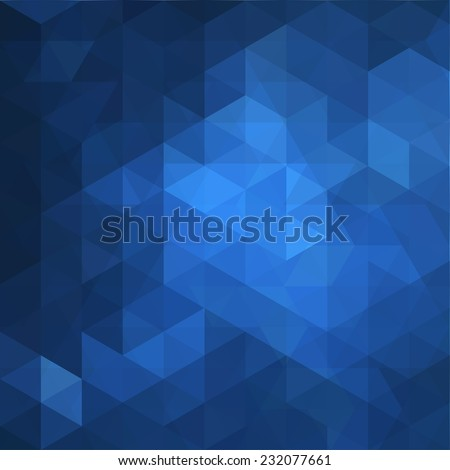 Blue Triangle Abstract Background. Vector Pattern of Geometric Shapes - stock vector