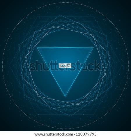 Blue Triangle Abstract Lines Background   EPS10 Vector Design - stock vector