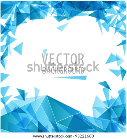Blue triangle abstract vector background - stock vector