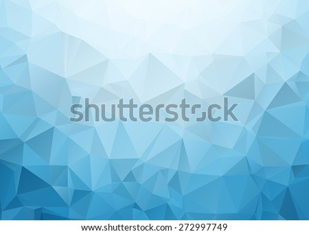 Blue Triangle Background - stock vector