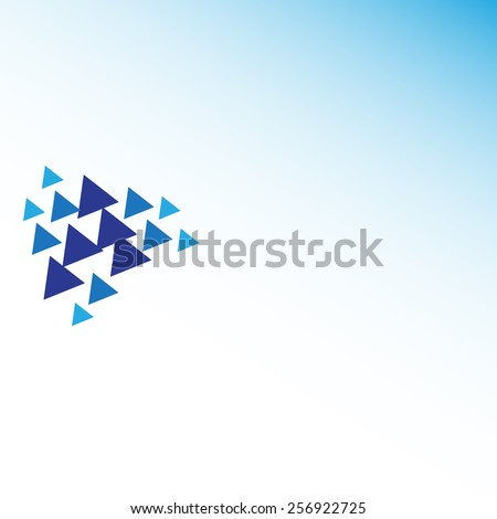 Blue Triangle Background. For your text an logo. Stock vector illustration  - stock vector