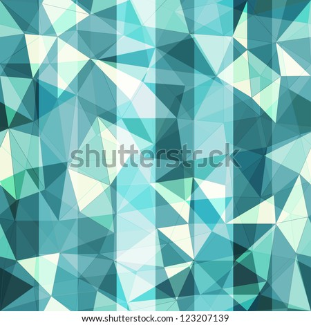blue triangle seamless pattern - stock vector