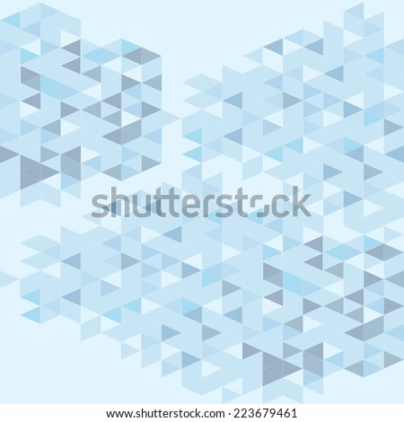 Blue triangle texture - stock vector