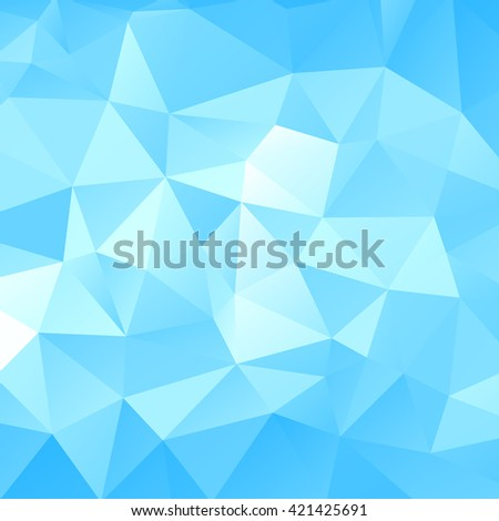 Blue triangular abstract background. Trendy vector illustration.  - stock vector
