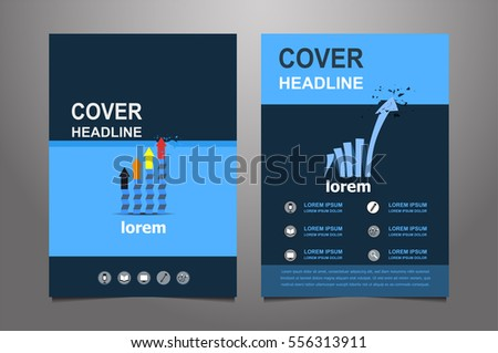 Blue Red Vector Annual Report Leaflet Stock Vector 547281877