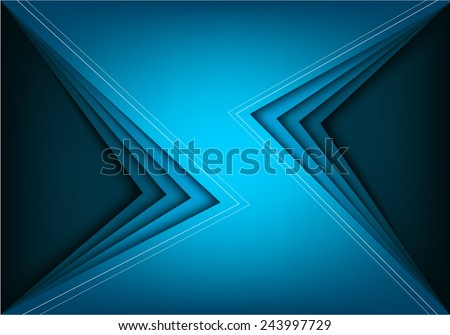 Blue vector background with blue bright angle line overlap layer space for text and message modern artwork design - stock vector